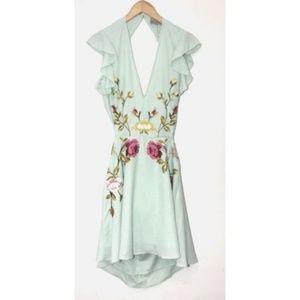 ASOS Floral Ruffle Backless Dress Size 10 US 14 UK